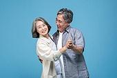 60-69세 (노인), 커플, 미소, 행복, 춤 (물리적활동)
