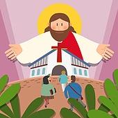 기독교, 종교, 기독교 (Christianity), 예수 그리스도, 그리스도탄생 (종교도구), 교회현수막