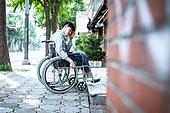 휠체어, 신체장애 (장애), 장애, 신체장애, 의료기기 (의료품), 환자, 보행로, 문제, 사회이슈 (주제), 인권