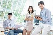스타트업, 사무실, 비즈니스미팅 (미팅), 미소