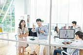 스타트업, 사무실, 대화, 비즈니스미팅 (미팅)