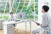 스타트업, 사무실, 벤처사업가 (역할), 비즈니스맨 (사업가), 대화, 비즈니스미팅 (미팅), 미소