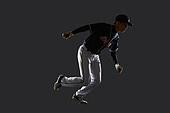 사진, 누끼 (누끼), 스포츠, 야구, 레저활동 (활동), 야구선수, 한국인, 남성, 스튜디오촬영 (실내), 모션, 도루, 달리기 (물리적활동)