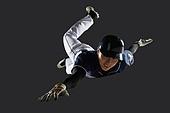 사진, 누끼 (누끼), 스포츠, 야구, 레저활동 (활동), 야구선수, 한국인, 남성, 스튜디오촬영 (실내), 모션, 옆으로미끄러짐 (움직이는활동)