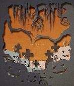 종이 (재료), 페이퍼아트, 할로윈, 할로윈 (홀리데이), 나무, 박과 (채소), 무덤, 십자가