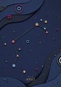 종이 (재료), 페이퍼아트, 별자리, 하늘, 밤 (시간대), 양자리