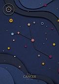 종이 (재료), 페이퍼아트, 별자리, 하늘, 밤 (시간대), 게자리