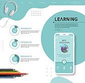 웹템플릿, 메인페이지 (이미지), 배너 (템플릿), 이벤트페이지, 교육 (주제), 학원, 인터넷강의, 오브젝트 (묘사), 연필, 스마트폰, 모바일템플릿