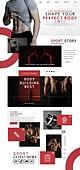 웹템플릿, 운동, 다이어트, 건강관리 (주제), 뷰티, 남성, 근육질 (사람체격)