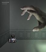 그래픽이미지, 합성, 사회이슈, 어린이 (인간의나이), 사람손 (주요신체부분), 가정폭력, 폭력 (사회이슈), 아동학대 (사회이슈)