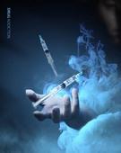 그래픽이미지 (Computer Graphics), 합성, 사회이슈, 포스터, 범죄, 중독, 마약, 주사기, 마약중독, 폐인, 정신병 (정신건강), 유혹