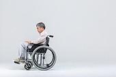 노인건강, 노인문제, 휠체어, 절망 (슬픔), 독거노인, 외로움, 고독 (컨셉)