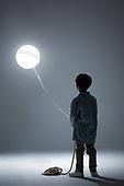 어린이 (인간의나이), 소년, 빛 (자연현상), 밧줄 (인조물건), 홀딩 (만지기)