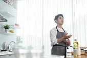 쿠킹클래스, 일생활균형 (컨셉), 배움 (컨셉), 주방 (건설물), 수업중 (교육), 요리사, 설명