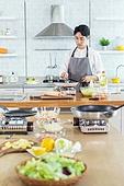 쿠킹클래스, 일생활균형 (컨셉), 배움 (컨셉), 주방 (건설물), 수업중 (교육), 요리사, 남성