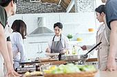 쿠킹클래스, 일생활균형 (컨셉), 배움 (컨셉), 주방 (건설물), 수업중 (교육)