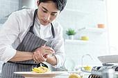 쿠킹클래스, 일생활균형 (컨셉), 배움 (컨셉), 주방 (건설물), 수업중 (교육), 요리사, 플레이팅