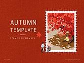 파워포인트, 메인페이지, 추억, 프레임, 우표, 가을, 계절