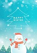 일러스트, 벡터 (일러스트), 계절 (Setting), 겨울, 눈 (얼어있는물), 눈사람
