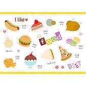 아이콘세트 (아이콘), 그림아이콘, 벡터 (일러스트), 핫도그, 케이크, 치킨, 음식