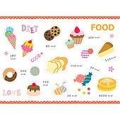 아이콘세트 (아이콘), 그림아이콘, 벡터 (일러스트), 팬케익, 식빵, 사탕, 음식