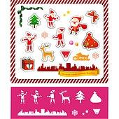 아이콘세트 (아이콘), 그림아이콘, 벡터 (일러스트), 크리스마스, 사슴, 선물