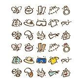 아이콘세트 (아이콘), 벡터 (일러스트), 그림아이콘, 안경, 화장품, 비키니