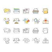 아이콘세트 (아이콘), 벡터 (일러스트), 그림아이콘, 파일, 폴더, 헤드셋, 망원경