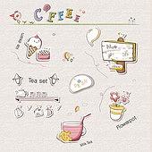 아이콘세트 (아이콘), 벡터 (일러스트), 그림아이콘, 카페, 커피, 아이스크림