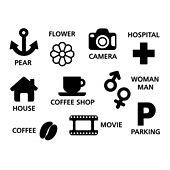 아이콘세트 (아이콘), 라이프스타일 (주제), 픽토그램, 벡터 (일러스트), 카메라, 병원, 카페, 주차