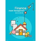 일러스트, 벡터 (일러스트), 플랫디자인, 비즈니스, 금융, 은행 (금융빌딩), 부동산, 화폐, 투자