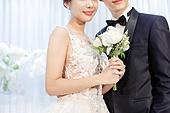 남성, 여성, 결혼식, 신부대기실, 커플, 부케, 미소, 밝은표정