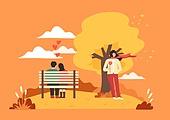 가을, 감성 (컨셉), 사람, 라이프스타일, 단풍나무 (낙엽수), 싱글라이프 (주제), 외로움 (컨셉)