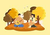 가을, 감성 (컨셉), 사람, 라이프스타일, 단풍나무 (낙엽수), 커플