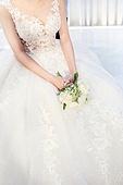 여성, 결혼식, 신부대기실, 웨딩드레스 (드레스), 부케
