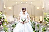여성, 결혼식, 결혼식장 (건설물), 웨딩드레스 (드레스), 부케