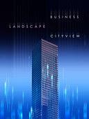 도시, 고층빌딩 (회사건물), 빛 (자연현상) 강렬한빛 (발광), 직선, 백그라운드, 비즈니스