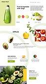 웹템플릿, 홈페이지, 메인페이지 (이미지), 건강한생활 (주제), 채소, 채소 (음식), 유기농 (주제)