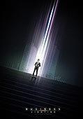 그래픽이미지, 포스터, 비즈니스, 비즈니스맨, 빛효과, 행동 (모션), 스포트라이트 (조명기법), 화이트칼라 (전문직)