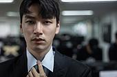 사무실, 한국인, 비즈니스, 노동자 (직업), 신입사원, 인턴, 비즈니스맨, 넥타이 (넥웨어), 셔츠와넥타이 (갖춰입은옷)