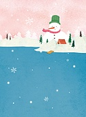 겨울, 풍경 (컨셉), 동화, 눈 (얼어있는물), 눈사람