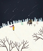 겨울, 풍경 (컨셉), 동화, 눈 (얼어있는물), 만년설원 (눈)