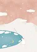 감성 (컨셉), 백그라운드, 백그라운드 (주제), 겨울, 북극곰, 낚시 (아웃도어), 눈 (얼어있는물)