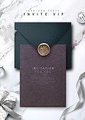 그래픽이미지, 편집디자인, 탑앵글 (카메라앵글), 스테이셔너리 (이미지), 봉투, 종이, 재질, 셀러브리티, 이벤트페이지, 상업이벤트 (사건), 초대장 (축하카드)