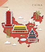 종이 (재료), 페이퍼아트, 지도, 랜드마크, 세계지도, 중국 (동아시아), 자금성