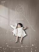 그래픽이미지, 사회복지 (사회이슈), 사회이슈 (주제), 가난 (사회이슈), 소외계층, 희망, 외로움, 아기 (인간의나이), 보호