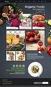 웹템플릿, 메인페이지 (이미지), 홈페이지, 유기농 (주제), 유기농농장 (농장), 과일, 채소 (음식), 건강한생활 (주제), 시장 (상점), 한국인, 남성, 여성