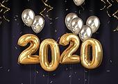 그래픽이미지 (Computer Graphics), 합성, 백그라운드, 새해 (홀리데이), 덕담 (문자), 복 (한단어), 2020년, 쥐띠해 (십이지신)