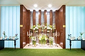 인테리어, 결혼 (사건), 결혼식장 (건설물), 실내, 조명 (발광), 결혼식 (결혼), 한국 (동아시아), 꽃, 액자 (예술도구), 테이블