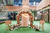 인테리어, 결혼 (사건), 결혼식장 (건설물), 실내, 조명 (발광), 결혼식 (결혼), 한국 (동아시아), 이젤